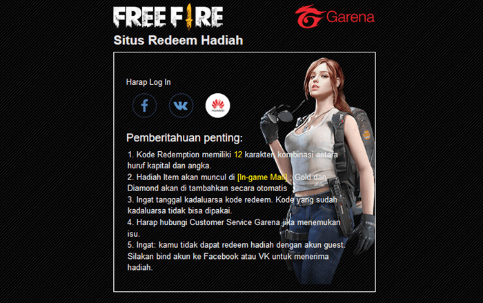 Reward FF Garena